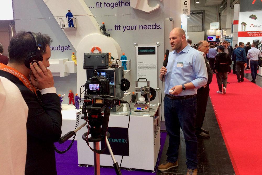 Protoworx mit dem TINY 3D-Drucker auf der Hannover Messe 2019